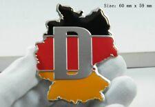 D387 Deutschland Karte auto aufkleber 3D Emblem Badge Plakette car Sticker Alu