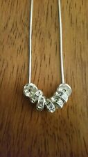 Sterling Silver 7 Ring Necklace