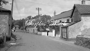 B/W Negative St Mary Bourne Hampshire FW Bench Post Office 1940s +Copyright W485