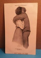"""1906 vtg Postcard """"A Fair Exchange is no Robbery"""" Couple embraced in Love"""