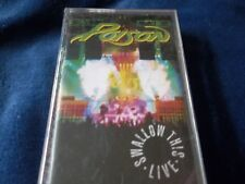 1991 CASSETTE BY POISON-SWALLOW THIS LIVE-