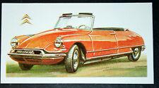 CITROEN DS 19     Vintage Illustrated Card  ## VGC