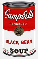 Campbell's Soup-Black Bean (Sunday B. Morning), Silkscreen, Andy Warhol