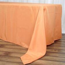 "5 Pk Orange 72x120""  Polyester Rectangle Seamless Tablecloth Wedding Party"