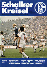 BL 80/81 FC Schalke 04 - VfB Stuttgart, 18.10.1980, Steckbrief Winfried Geier