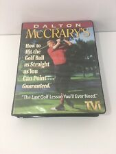 Dalton McCrary's Hit the Golf Ball Straight Complete Vhs Instructional System Ex