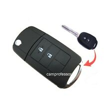 New Uncut Flip Remote Key Shell Case Fob 2 Button for Toyota RAV4 Corolla Avalon