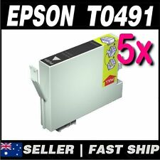 5x Black T0491 Compatible Ink for PRINTER Stylus Photo RX510 RX630 RX650