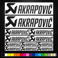 Compatible Akrapovic 12 Stickers Autocollants Adhésifs Moto Auto Voiture Sponsor