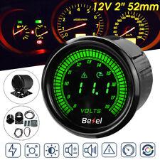 """2"""" 52mm Digital 10 Color LED Volt Meter Voltmeter Voltage Gauge 8-18V"""
