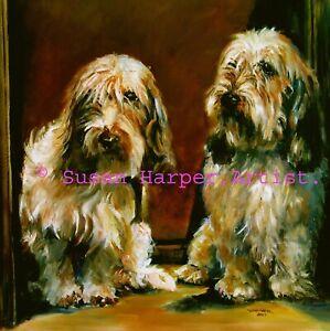 SALE Basset Griffon Vendeen - Petit Signed Dog Print by Susan Harper Unmounted