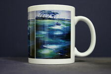 UNIQUE 350ml MUG WITH EMBEDDED IMAGE OF ORIGINAL PAINTING: Low Tide, Phillip Is.
