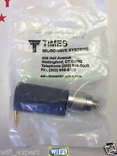 TIMES® TC-400-NM N TYPE Male Plug Solder Crimp for RG8 LMR400 RG213 RF Connector