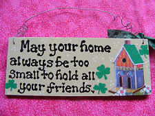 "AN IRISH BLESSING FOR HOME"" SIGN *NEW SIZE**"" 3x7"" SIGN~HANDPAINTED"