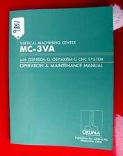 Okuma Vertical Machining Center Oper & Maintenance.2820-E-R3, Inv 9851