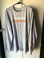 Texas Longhorns Mens Gray 2XL Long Sleeve Shirt NWT
