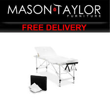 Mason Taylor 3 Fold Portable Aluminium Massage Table MT-ALUM-GA301-WHITE-75