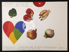JIM DINE Pop Art VEGETABLES AND HEART Galerie SONNABEND Paris 1963