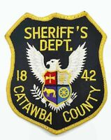 Obsolete Black And Yellow Catawba County Sheriff's Dept. Patch North Carolina