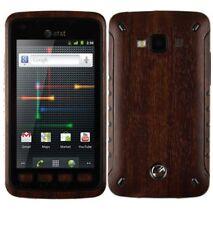Skinomi Phone Skin Dark Wood Cover+Screen Protector Film for Samsung Rugby Smart