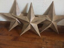 "(Set of 3) RUSTIC BLACK BARN STAR 14"" PRIMITIVE COUNTRY FARMHOUSE DECOR"