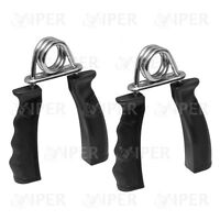 Hand Grip Strengthener Forearm Exerciser Wrist Fitness Training Black Pair