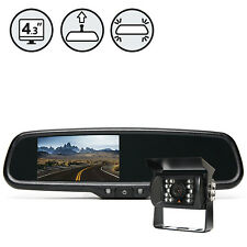 Backup Camera System with Mirror Display and Waterproof Camera RVS-770718