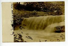 Worthington PA Antique RPPC Waterfall Beautiful Photo—Armstrong County 1908