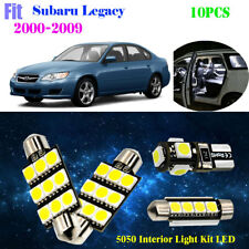 10Bulb 5050 Xenon White 6000K Interior Light Kit LED Fit 2000-2009 Subaru Legacy