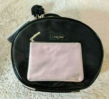 Lancome Makeup Faux PatentLeather Train Case & Rose Gold Mini Cosmetic Bag
