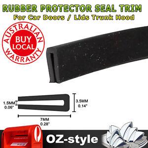 U Shape Rubber Seal Trim Strip Push On Car Door Edge Protection Weatherstrip 3Ms