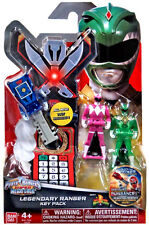 Power Rangers Mighty Morphin Super Megaforce Legendary Key Pack MMPR Green Pink