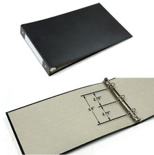 "Black 3-Ring Check Book Binder Business Checkbook Binders For 8.5"" x 14"" Paper"