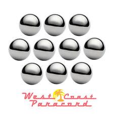 "1"" Chrome Steel Bearing Balls for Center of Paracord Monkey Fist (10 Pack)"