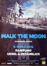 WALK THE MOON - 2016 - Konzertplakat - Concert - Tourposter - Hamburg