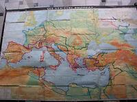 Römisches Reich 257x175 1971 vintage the Roman Empire wall map B 罗马帝国 JA ローマ帝国