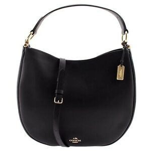 NEW COACH Nomad Hobo Leather Hobo Shoulder Classic Navy Dome Gold F36026 FREE SH