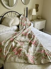 Beautiful Lined Laura Ashley Curtains 100% Cotton rose trellis 65w X 80L Used