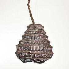 IMPRESIONES bambú Lámpara De Suspensión, colgante en marrón 1 luz