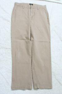 Khaki Tan Flat Front Dress Pants 33 Waist 31 Inseam Cotton Apt. 9 Modern Fit P30