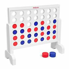 Connect 4 In A Row Giant Board Game Wood Yard Large Games Families Kids Adults