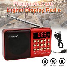 Mini Portable FM Radio Digital LCD Speaker MP3 Music Player USB TF Rechargeable