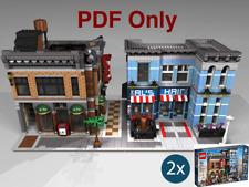 Lego Custom Modular Detective´s Office Neighborhood 10246 Instructions PDF Only