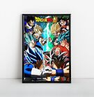 Evolution of Goku vs Vegeta Poster | Framed Art | Dragon Ball | DBZ | NEW | USA