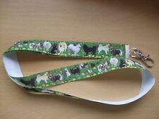 Handmade Norwegian Elkhound Dogs Lanyard Whistle Walking Training Puppy ID Key