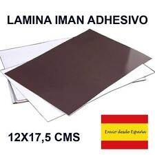 LAMINA IMAN ADHESIVO PARA MANUALIDADES 12cm x 17,5 cm x 0.8 mm