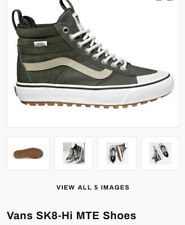 NEW M9/W10.5 Vans Sk8-Hi MTE 2.0 DX Skate Shoe/Sneaker Green Hi Tops COMFORTABLE