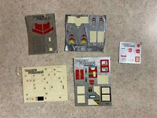 Hasbro 1980's Vintage G1 Transformers Partially Sticker Sheets Decals Lot #4