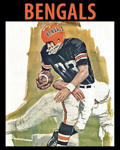 Cincinnati Bengals - Artistic Game Program Cover (1968) from, 8x10 Color Photo