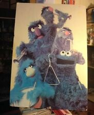 Rare Vtg Muppets Sesame Street Jazz Band Blues Drum Music 1979 Dr. Teeth Poster